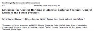 11/2014. Vacunas bacterianas de mucosas