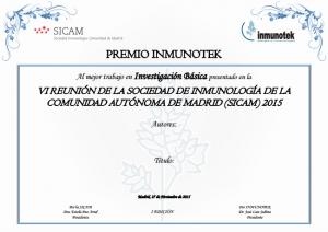 09/2015. Premios INMUNOTEK