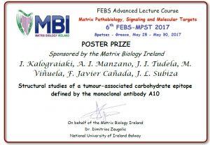 05/2017. Premio FEBS-MPST 2017