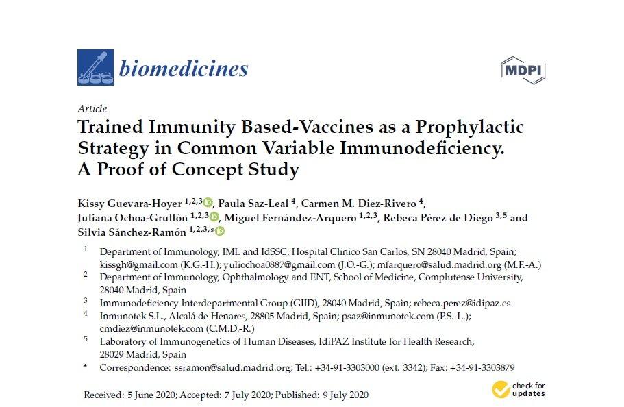 MV130 CVID Biomedicines 2020